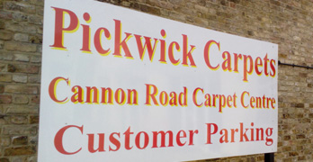 Pickwick Carpets Kent - Parking